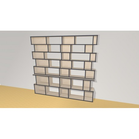 Bookshelf (H200cm - W210 cm)