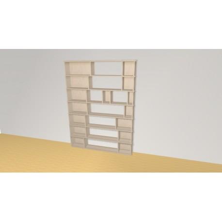 Bibliothèque (H189cm - L141 cm)