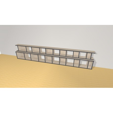 Bookshelf (H66cm - W341 cm)