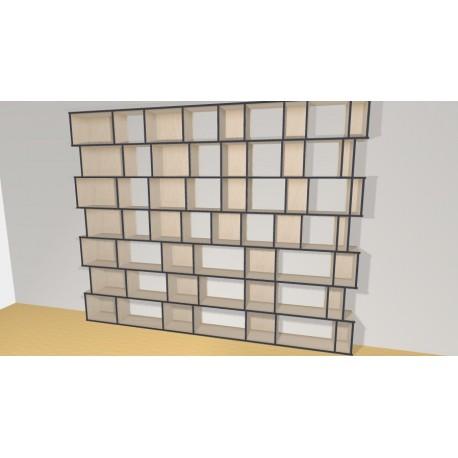 Bibliothèque (H252cm - L318 cm)