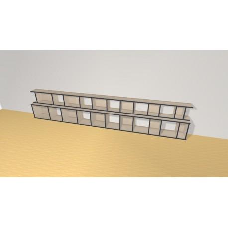 Bookshelf (H66cm - W343 cm)