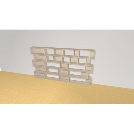Bibliothèque (H121cm - L220 cm)