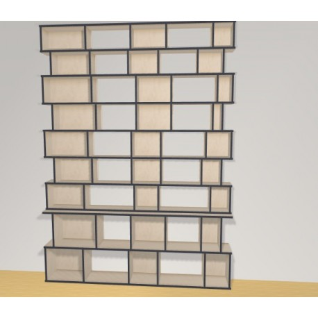 Bookshelf (H257cm - W210 cm)