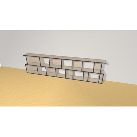 Bibliothèque (H73cm - L285 cm)