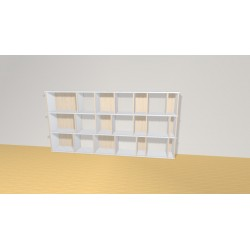Bookshelf (H109cm - W221 cm)