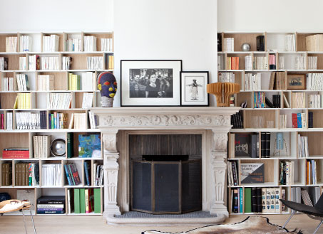 Fireside bookcases