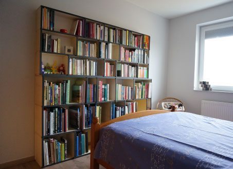 Bedroom bookcases