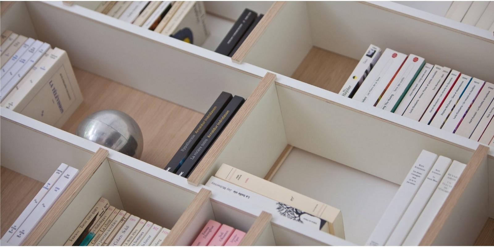 De enige boekenkast die ontworpen is voor verschillende soorten boeken
